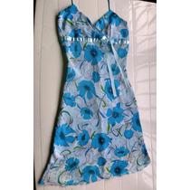 Vestido De Chifon Estampado 4u Desing Talla S