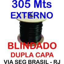 Cabo De Rede Blindado Cat5e 305 Mts 100% Cobre Externo
