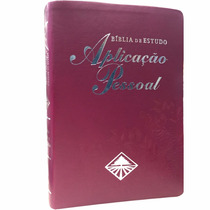 Bíblia De Estudo Aplicação Pessoal Mulher Grande Bordo
