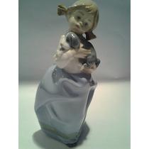 Figura Porcelana Nao Lladro Niña Con Perrito