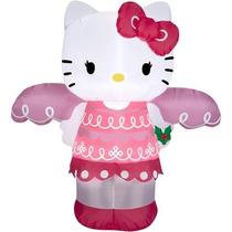 Inflable Navidad Decoración Santa Hello Kitty Niña Juguete