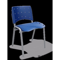 Cadeira Fixa Plaxmetal Azul, Semi Novas, Com Apenas 6 Meses