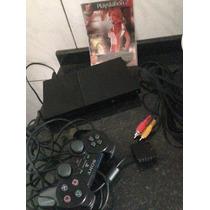 Console Sony Playstation 2 Slim Preto Desbloqueado Ps2 Play2