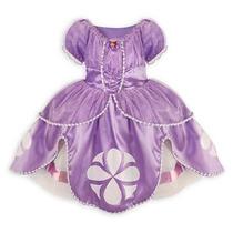 Princesa Sofia Vestido Da Loja Da Disney - Fantasia 5/6 Anos