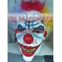 Mascara Halloween Payaso Diabolico Broma Latex Con Peluca