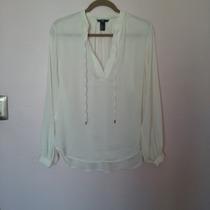 Limpia De Closet - Blusa Satinada H&m Color Hueso
