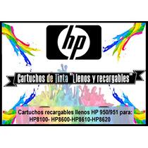 Cartuchos Recargables Hp 950/951 Con Tinta (llenos!) Kit 4