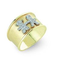Anel Pingente Menino E Menina Em Ouro 18 K E Diamantes