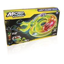 Pista Para Autos Luminosos Microchargers + 2 Autos Intek
