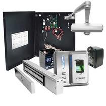 Kit Control De Acceso Biometrico Huella Y Proximidad Sf101