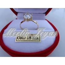 Anillo Cintillo Oro18k - 2 Gramos - Merlin Joyas-