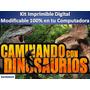 Kit Imprimible Candy Bar Caminando Con Dinosaurios Cumpleaño