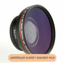 Lente Angular + Macro 0.50x Cameras Canon Nikon Sony Panason