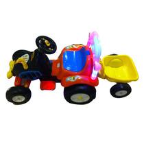 Carro Eléctrico Montable Tractor Con Remolque 3-8 Años