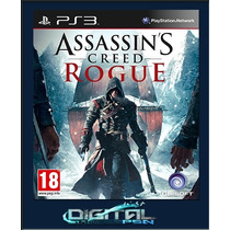 Assassins Creed Rogue Ps3 Dubl Pt Br Digital Envio Imediato
