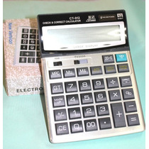 Calculadora Solar Citizen Modelo Ct-912 12 Digitos