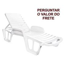 Espreguiçadeira Conforto Dolfin Piscina Jardim Praia Clube