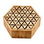 Caixa Decorativa Hexagonal Em Madeira - Acabamento Em Chifre