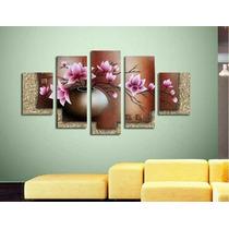 Cuadros Modernos Tripticos Polipticos Texturados Florales