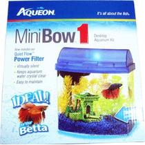 Pecera Mini Bow Equipada Con Filtracion Y Luz 4 Litros