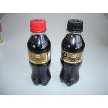 Lote 2 Mini Garrafas Pet Coca Cola Olimpiadas 2016 - Cheias