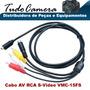 Cabo Av Rca S-video 15fs Filmadora Sony Dcr- Sr65 Sr67 Sr68