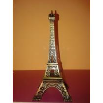 Torre Eiffel 18 Cm Metal X10unidades Ideal Suvenir