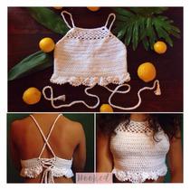 Crop Top, Bikini En Crochet
