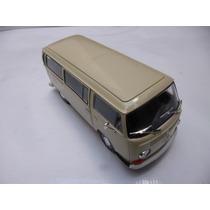 Vw Combi 1972 T2 Esc: 1/24 Welly Auto Escala Coleccion Beige