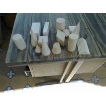 Juego De Cuerpos Geometricos X 15 Piezas De Madera