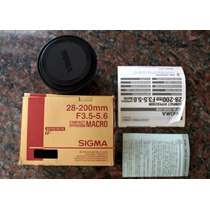 Lente Canon Ef Sigma 28-200mm F/3.5-5.6 Macro