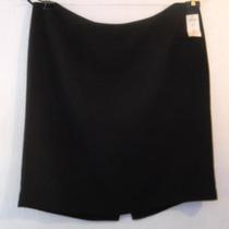 Falda Tahari Negra De Vestir T/20w 42 Mexico Tessa Boutique