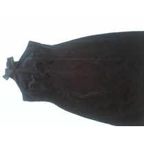 Hermoso Vestido Negro Terciopelo Strech Talla S/m