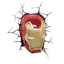 Luminária Máscara Homem De Ferro 3 - 3d Light Fx