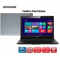 Notebook Dual Core U25 Hd500 2gb Tampa Prateada Lindo!!