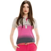 Blusa Modelo Pólo Listrada Rosa Principessa Mirian