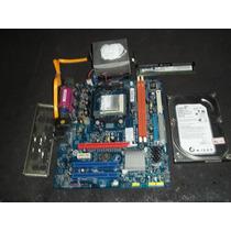 Kit Placa Mãe Am2 Am2n1k-m Plus / Memória / Hd / Processador