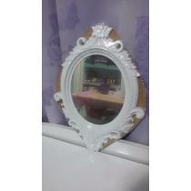 Espelho De Parede Plastico Oval Princess Médio Escolha A Cor