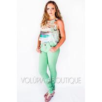 Calça Skinny Color Alto Verão 2015 - D