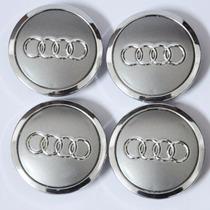 Calota Centro Roda Audi 69mm - Kit 4 Peças A3 A4 A5 A6 A7 A8