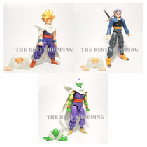 Set 3 Figuras Dragon Ball Z Articulada Gohan Trunks Picoro