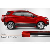 Estribo Nova Ecosport 2012 2013 2014 2015 Vermelho Arpoador