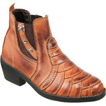 Bota Country Infantil Texana Escamada Peao Couro Legitimo
