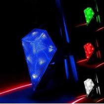 Luz Trasera Bicicleta 100 Lumenes 9leds + Marca Carril Laser