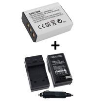 Kit Bateria Np-85 + Carregador Np85 Fuji Finepix Sl300 Sl305