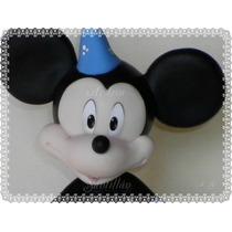 Mickey Mouse Adorno De Torta Porcelana Fría !