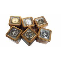 Kit 10 Relógio Masculino Dourado + Caixinha Dourada Atacado