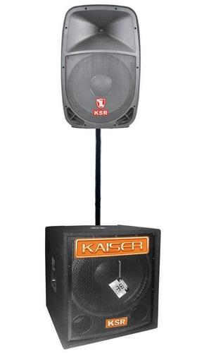 Sistema Bafles Subwoofer Amplificados Kaiser 7000w Bocina