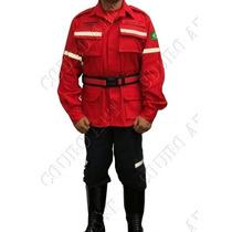 Farda Tática Bombeiro Civil C/ Refletivo - Vermelha