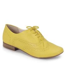 Sapato Oxford Feminino Bottero - Amarelo